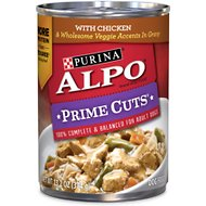 ALPO Prime Cuts with Chicken & Wholesome Veggie Accents in Gravy Canned Dog Food, 13.2-oz, case of 12