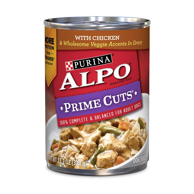 ALPO Prime Cuts with Chicken & Wholesome Veggie Accents in Gravy Canned Dog Food, 13.2-oz, case of 12 - Chewy.com