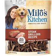 Milo's Kitchen Steak Grillers Recipe with Angus Steak Dog Treats, 10-oz bag