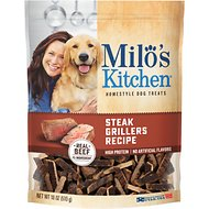 Milo's Kitchen Steak Grillers Recipe with Angus Steak Dog Treats, 18-oz bag