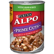 ALPO Prime Cuts with Lamb & Rice in Gravy Canned Dog Food, 13.2-oz, case of 12
