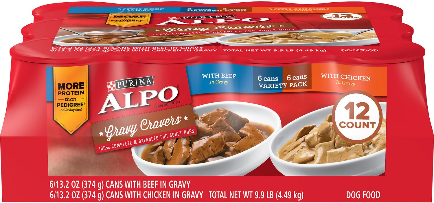 Alpo Gravy Cravers Variety Pack Canned Dog Food 132 Oz Case Of 12