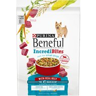 Purina Beneful IncrediBites for Small Dogs with Real Beef Dry Dog Food, 15.5-lb bag