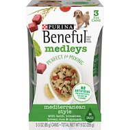 Purina Beneful Medleys Mediterranean Style Canned Dog Food, 3-oz, pack of 3
