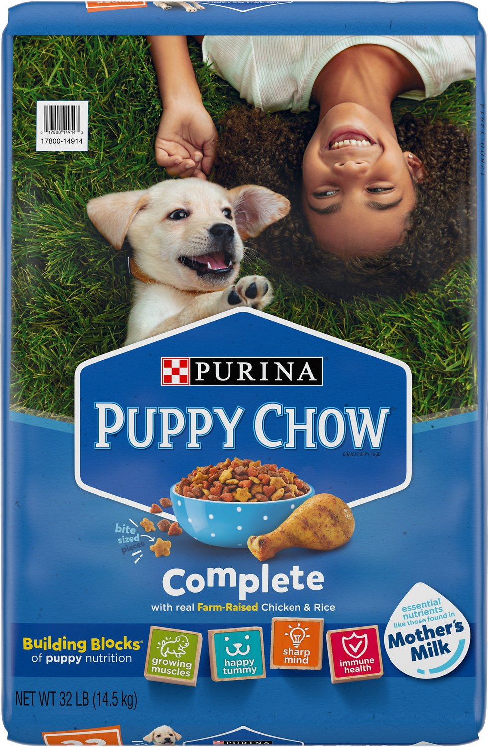 Puppy Chow Complete Chicken Flavor Dry Dog Food, 32-lb bag ...