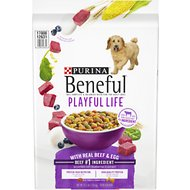 Purina Beneful Playful Life with Real Beef & Egg Dry Dog Food, 15.5-lb bag
