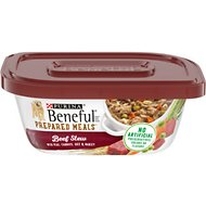 Purina Beneful Prepared Meals Beef Stew with Peas, Carrots, Rice & Barley Wet Dog Food, 10-oz, case of 8