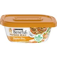 Purina Beneful Prepared Meals Chicken Stew with Rice, Carrots, Peas & Barley Wet Dog Food, 10-oz, case of 8