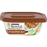 Purina Beneful Prepared Meals Roasted Chicken Recipe with Brown Rice, Carrots & Spinach Wet Dog Food, 10-oz, case of 8
