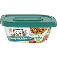 Purina Beneful Prepared Meals Savory Rice & Lamb Stew with Peas & Carrots Wet Dog Food, 10-oz, case of 8