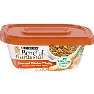 Purina Beneful Prepared Meals Simmered Chicken Medley with Green Beans, Carrots & Wild Rice Wet Dog Food, 10-oz, case of 8