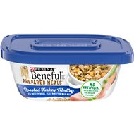 Purina Beneful Prepared Meals Roasted Turkey Medley with Corn, Wild Rice, Peas & Barley Wet Dog Food, 10-oz, case of 8