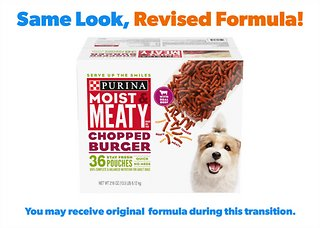 Moist Meaty Chopped Burger Dry Dog Food 6 Oz Pouch Case Of 36