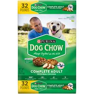 Dog Chow Complete Adult with Real Chicken Dry Dog Food, 32-lb bag