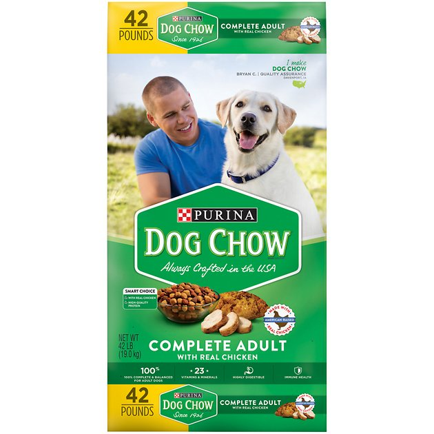 Dog Chow Complete Adult With Real Chicken Dry Dog Food 42 Lb Bag