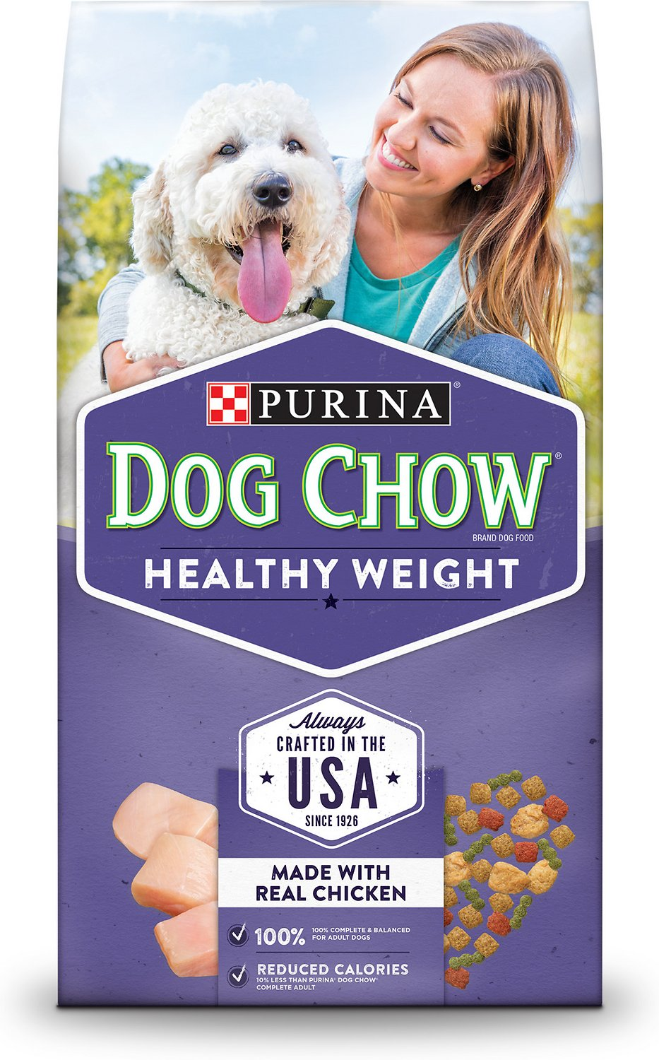 Dog Chow Healthy Weight With Real En Dry Food 16 5 Lb Bag
