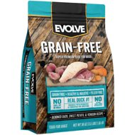 Evolve Grain-Free Deboned Duck, Sweet Potato & Venison Recipe Dry Dog Food, 4-lb bag
