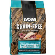 Evolve Grain-Free Deboned Duck, Sweet Potato & Venison Recipe Dry Dog Food, 11-lb bag