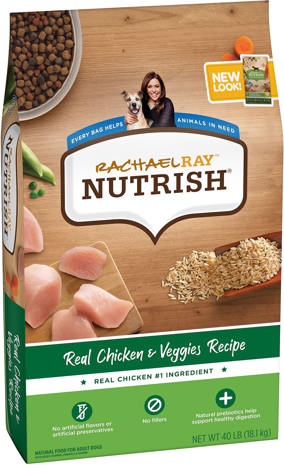 Best Natural Dog Food >> Rachael Ray Nutrish Natural Chicken Veggies Recipe Dry Dog Food 40 Lb Bag