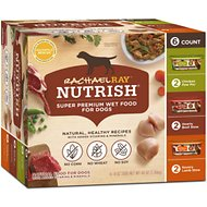 Rachael Ray Nutrish Natural Variety Pack Wet Dog Food, 8-oz tub, case of 6