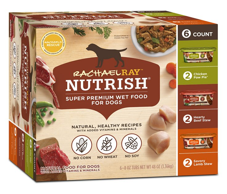 Rachael Ray Nutrish Natural Variety Pack Wet Dog Food 8 Oz Tub
