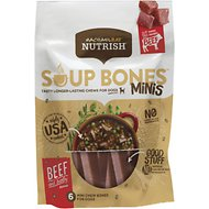 Rachael Ray Nutrish Soup Bones Minis Beef & Barley Flavor Chews Dog Treats, 4.2-oz bag