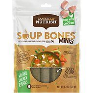 Rachael Ray Nutrish Soup Bones Minis Chicken & Veggies Flavor Dog Chew Treats