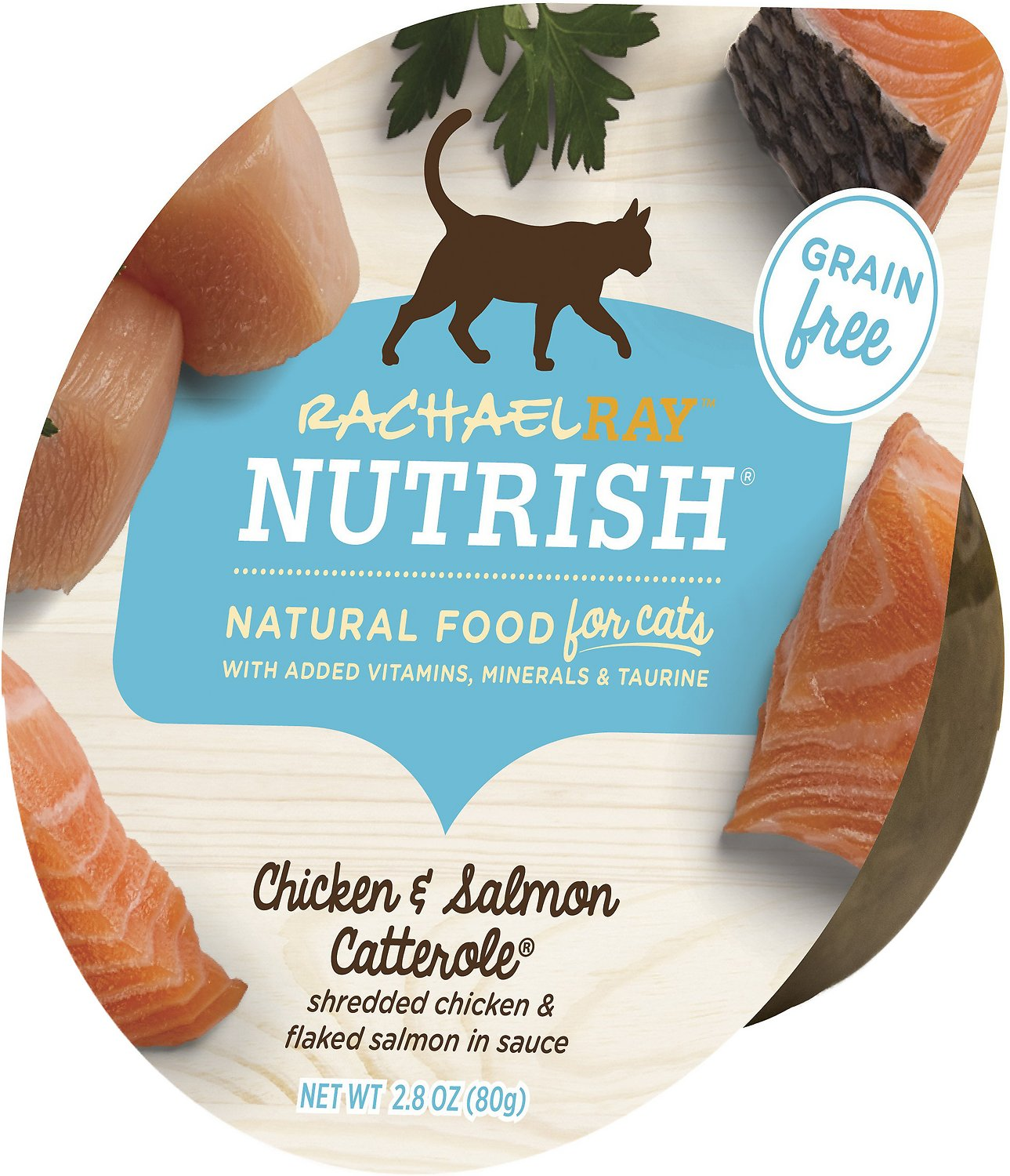Rachael Ray Nutrish Chicken Salmon Catterole Natural Grain Free Wet Cat Food 2 8 Oz Case Of 24