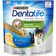 DentaLife Daily Oral Care Small/Medium Dental Dog Treats, 40 count