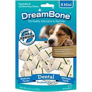 DreamBone Mini Dental Chew Bones Dog Treats, 8 count