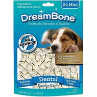 DreamBone Mini Dental Chew Bones Dog Treats, 24 count