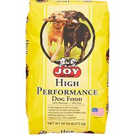 Joy High Performance Dry Dog Food, 20-lb bag