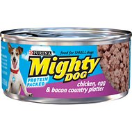 Mighty Dog Chicken, Egg & Bacon Country Platter Canned Dog Food, 5.5-oz, case of 24