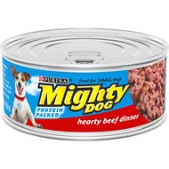 Mighty Dog Hearty Beef Dinner Canned Dog Food, 5.5-oz, case of 24