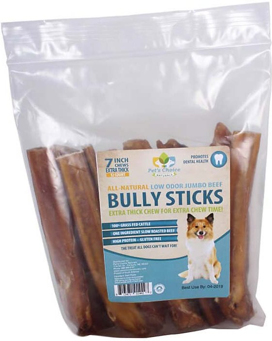 pet 39 s choice pharmaceuticals low odor jumbo bully sticks 7. Black Bedroom Furniture Sets. Home Design Ideas
