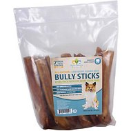 "Pet's Choice Pharmaceuticals Low Odor Jumbo Bully Sticks 7"" Dog Treats, 12 count"