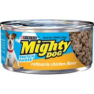Mighty Dog Rotisserie Chicken Flavor Canned Dog Food, 5.5-oz, case of 24