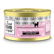 I and Love and You Savory Salmon Pate Grain-Free Canned Cat Food, 3-oz, case of 24