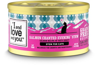 6. I and Love and You Salmon Chanted Evening Stew Grain-Free Canned Cat Food