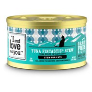 I and Love and You Tuna Fintastic Stew Grain-Free Canned Cat Food, 3-oz, case of 24