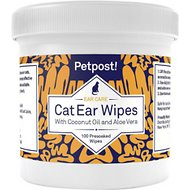 Petpost Ear Wipes with Coconut Oil & Aloe Vera For Cats