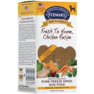 Stewart Raw Naturals Chicken Recipe Patties Grain-Free Freeze-Dried Dog Food, Medium, 16 count