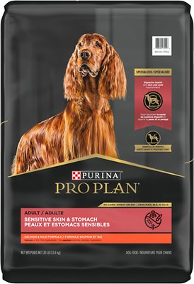 Purina Pro Plan Adult Sensitive Skin & Stomach Salmon & Rice Formula Dry Dog Food (Best Dog Food for Rottweilers with a Sensitive Stomach)