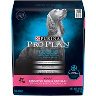 Purina Pro Plan Focus Adult Sensitive Skin & Stomach Salmon & Rice Formula Dry Dog Food, 30-lb bag
