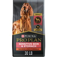 Purina Pro Plan Adult Sensitive Skin & Stomach Salmon & Rice Formula Dry Dog Food, 30-lb bag