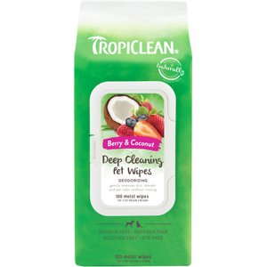 TropiClean Deep Cleaning Deodorizing Dogs Wipes