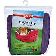Kaytee Cuddle-E-Cup Plush Small Animal Bed, 10-in