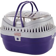 Living World Small Animal Carrier, Purple & Grey, Small