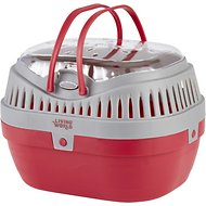 Living World Small Animal Carrier, Red & Grey
