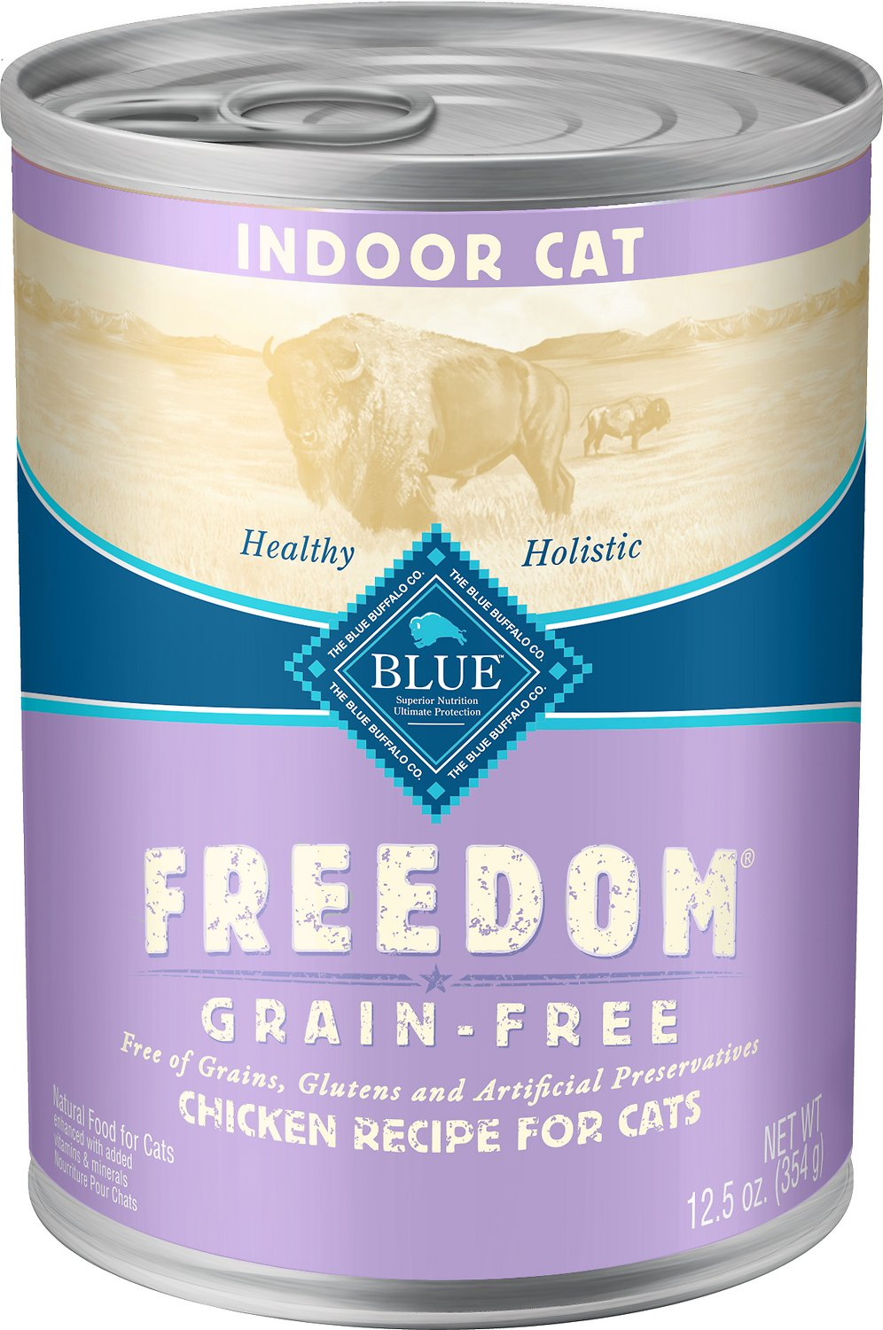 BLUE BUFFALO Freedom Indoor Adult Chicken Recipe Grain-Free Canned Cat Food, 12.5-oz, case of 12 ...
